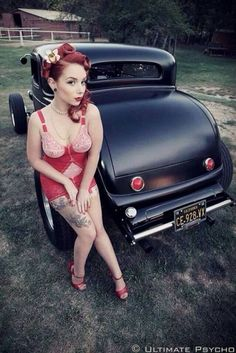 pinup-hotrod:Hotrod Pinup #ratrod #alternative #rockabilly...