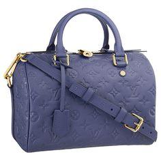 Louis Vuitton Monogram Empreinte Speedy 25 Bandoulière ❤ liked on Polyvore featuring bags