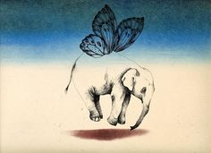 butterfly elephant by Noushin Safakhoo. Weird but cool.