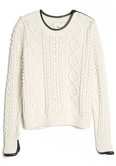 Cropped Cable Knit Pullover 3.1 Phillip Lim