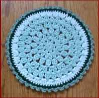 Round crochet discloth