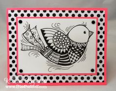 #Stampendous new #Pen Pattern line of stamps have nice open spaces that you can fill in with fun doodles!