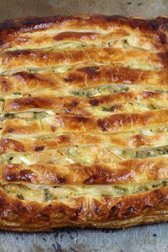 almondtozest.com - CHICKEN, leek and brie pie