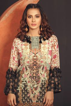Alkaram Summer Lawn Designs Latest Suits Collection consists of digital printed and embroidered dresses in colorful patterns & styles! Beautiful Women Videos, Pakistani Outfits, Pattern Fashion, Dress Patterns, Designer Dresses, Iqra Aziz, Lawn, Fashion Design, Hairstyles