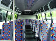 Motor Coaches by J&J Luxury Transportation: the inside of our shuttle bus.