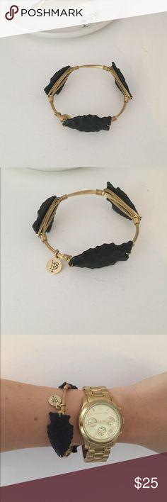 REDUCED - Bourbon and Boweties Bangle Black and Gold arrow bracelet Bourbon and Bowties Jewelry Bracelets