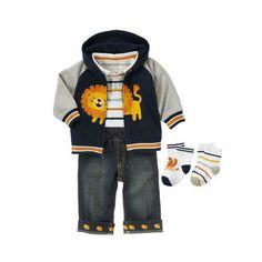 2013 para niños ropa al por mayor de ropa de marca patrón de león dril de algodón de bebé niño tres- pieza chico de moda de ropa de invierno--Identificación del producto:929242528-spanish.alibaba.com