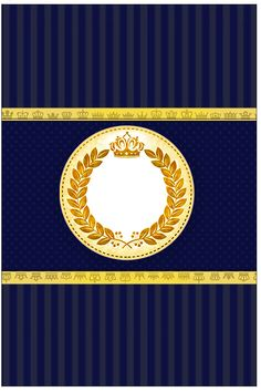 Bala Personalizada Coroa Príncipe Azul Marinho