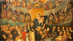 Svätci a zjavenie duší v očistci Marvel, Painting, Painting Art, Paintings, Painted Canvas, Drawings