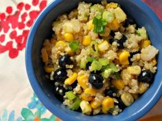 Blueberry, Corn and Quinoa Salad