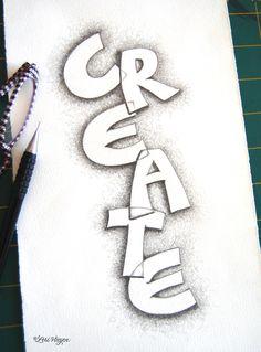 fun creative lettering exercise ~ elvie studio: inspiration monday