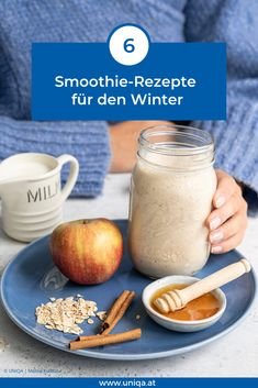 Hot Smoothies können das Immunsystem stärken und die Seele streicheln. Hier unsere 6 besten Rezepte! Healthy Food, Healthy Recipes, Smoothie Drinks, Breakfast Ideas, I Foods, Hot Chocolate, Advent, Desserts, Beverages