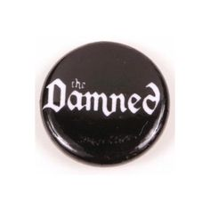 Hullabaloo The Damned Button at Broken Cherry Boutique Unisex... ($1.50) ❤ liked on Polyvore featuring pins
