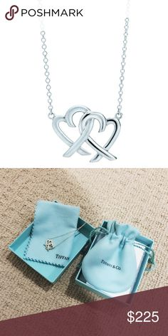 """Tiffany & Co. Loving Heart Necklace PALOMA PICASSO® Loving Heart Interlocking Pendant in sterling silver. On an 18"""" chain. Original designs copyrighted by Paloma Picasso. Received for New Years. Brand New. Never Worn. Tiffany & Co. Jewelry Necklaces"""