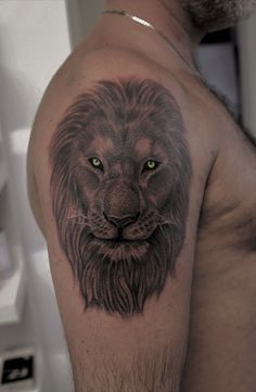 Realistic tattoo #lion tattoo #leone tattoo #