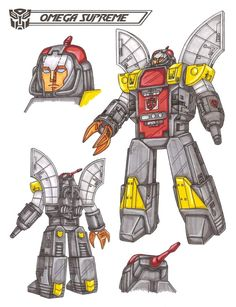 Omega Supreme, no artist or date. Drawn and coloured by the use of pencils. I have chosen this picture because of the emotional force of my childhood memory being a character from one of the television programs I used to watch, The Transformers.