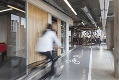 The ultimate bicycle friendly office design, and 6 ways to adapt these ideas to encourage bike commuting in your workplace. [photo: Michelle Litvin Studio/Scram, Chicago]