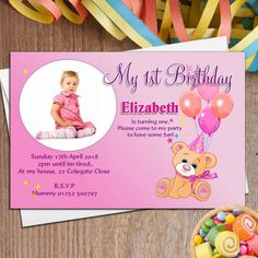 Pink Birthday Invitation Card Maker Online Free Personalized Invitations
