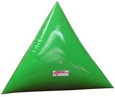 Premium 5' Triangle Swim Marker Buoy FLUORESCENT GREEN