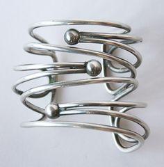 Cuff Bracelet   Art Smith.  Silver.  ca. 1950s