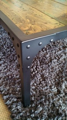 Rustic or industrial coffee table by LuxMetalCreations on Etsy, $400.00