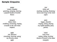 Poem forms | cinquain poems, poems, i am poem.