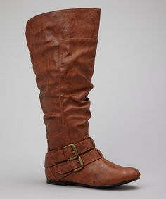 Tan Vickie Slouch Boot