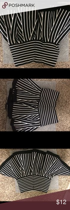 Juicy Couture mini schoolgirl skirt Juicy Couture mini schoolgirl skirt size small. Black and white stripe, never worn. Zips up the back. Juicy Couture Skirts Mini