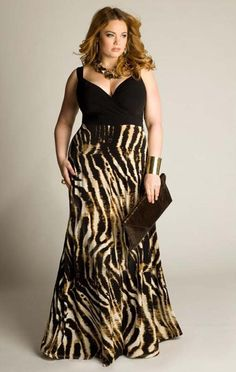 Plus Size Maxi Dresses 2014 - may be a little too wild for me but I think it's fun  flirty!
