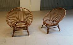 2 chairs 1950-60 VITTORIO BONACINA (FRANCO ALBINI???) in Arte e antiquariato…
