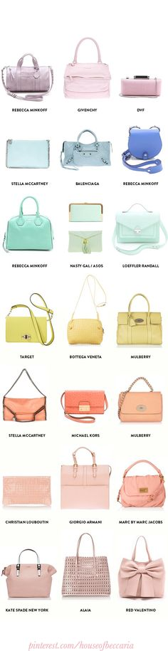 ~A Rainbow Of Pastel Designer Bags For Spring | House of Beccaria#
