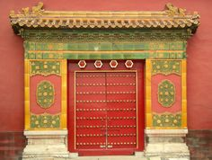 Forbidden City Chinese Door, Doors Galore, China Architecture, Chinese Element, China Style, Chinese Design, Old Phone, Architectural Features, China Travel