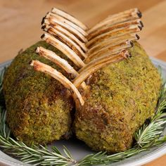Garlic Herb Crusted Roast Rack Of Lamb Recipe by Tasty