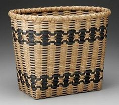 18d_jensen_turnedaround.jpg (400×353) Using bi-colored stakes and weavers, students will weave a rectangular basket containing designs to set off the ash curl embellishments. Attention to shaping will be made. Ash curls may need to be finished after class. Special tools: Weave rites helpful for ash curls.