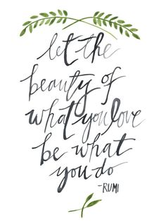 Rumi Quote Watercolor Art Print 9x12