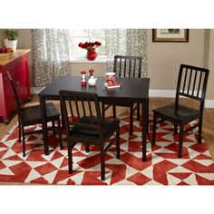 Camden 5 Piece Dining Set, Multiple Colors 249 Sturdy Black Dining Table Is  Made
