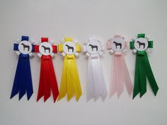 Striped Model Horse Show Ribbon Set $8.00 - https://www.etsy.com/listing/159638986/striped-model-horse-show-ribbon-set?ref=shop_home_active_2