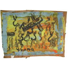Purvis Young (1943-2010) | Untitled | From a unique collection of antique and modern outsider and self taught art at http://www.1stdibs.com/furniture/folk-art/outsider-self-taught-art/