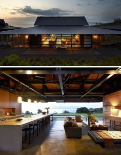 Bringing the outdoors indoors. i love the idea of see through garage doors