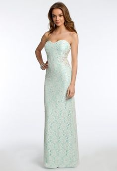 Strapless Pearl Bead Allover Lace Dress from Camille La Vie http://www.camillelavie.com/dress/strapless-pearl-bead-allover-lace-dress_28440-56642