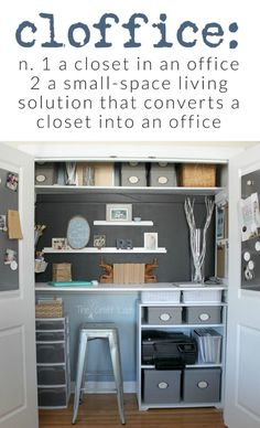 Why Hon File Cabinets Are The Only Option For Your Property Or Office Cloffice Is A Home Office In A Closet. The most effective method to Turn A Closet Into An Organized Work Space Or Office. Add A Desk To A Home Closet Office. Craft Room Closet, Closet Desk, Home Office Closet, Office Nook, Office Storage, Office Organization, Closet Storage, Closet Turned Office, Ikea Office