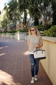 Bay Area Blonde: Beige & White