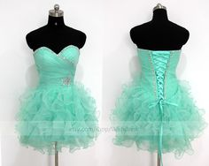 Custom Made Turquoise Organza Short Prom Dress/ Blue Cocktail Dress/ Party Dress/ Baby Blue Homecoming Dress /Sweet 16 Dress By Wishdress by Wishdress on Etsy https://www.etsy.com/listing/208089956/custom-made-turquoise-organza-short-prom