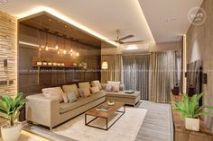Living Room Interior Design, Furnishing in Kerala, Bangalore DLIFE Living Room Kerala, Living Room Modern, Living Room Decor, Living Rooms, Interior Design Living Room, Modern Interior, Interior Styling, Living Room Designs, Room Interior