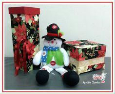 Caixa de vinho e presente natalino- cartonagem