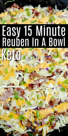 Easy dinner ideas like this 15 Minute Keto Reuben In A Bowl is a must for those who meal prep and on a low carb keto diet! dinner keto 15 Minute Keto Reuben In A Bowl Low Carb Dinner Recipes, Keto Dinner, Diet Recipes, Healthy Recipes, Smoothie Recipes, Dessert Recipes, Reuben Sandwich, Keto Foods, 7 Keto