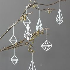 AMradio_modern himmeli ornaments / set of 8 / hanging mobile Minimalist Christmas, Modern Christmas, Scandinavian Christmas, All Things Christmas, Noel Christmas, Winter Christmas, Xmas, Christmas Unicorn, Thanksgiving Holiday