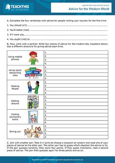 Giving advice PDF ESL activities, games, interactive and printable worksheets and lessons to help teach levels how to ask for and give advice. English Speaking Game, Speaking Games, Teaching English, Help Teaching, Teaching Tools, Student Learning, Activity Games, Activities, Giving