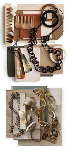 I am always drawn to tortoise shell/horn jewelry (tortoise shell better be faux!)  Roost-orange-and-pear
