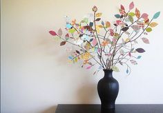 old+keys+crafts+diy | Although this paper tree was actually made with scrapbook paper, I ...